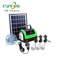 Новейший DC солнечная домашняя система портативный солнечное освещение комплекты для Африки-Радио MP3-вентилятор для варианта