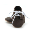 Newness Design Air Hole Leather Oxfords Baby