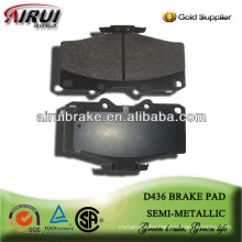 D436 high performance semi-metallic brake pad for Toyota Pickup