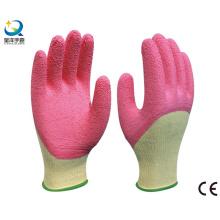 Рабочие перчатки с латексным покрытием 3/4, с морщинами