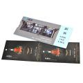 Impression de carte de papier de carte de billet taille adaptée aux besoins du client