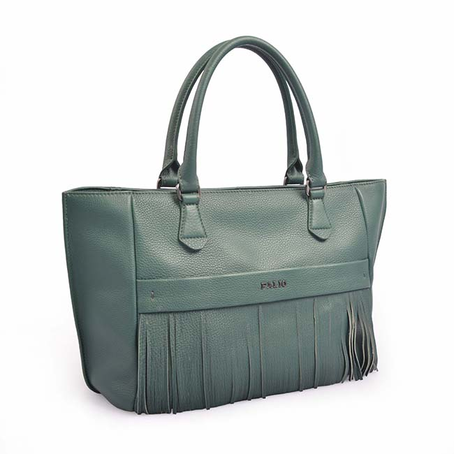 Tassel Style Womens Genuine Leather Handbags