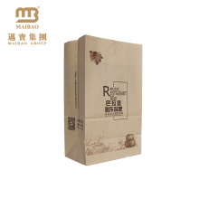 China Manufacturers Wholesale Custom Printed Brown Craft Snack Food Packaging SOS Kraft Paper Bag
