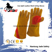 Коричневый Воловья Кожа Сплит Промышленный Ручной Сварки Безопасности Перчатки Работы