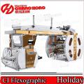 Machine d'impression flexographique en plastique de papier de colza (tambour central)