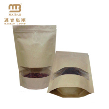 Alibaba best selling 2014 new design stand up with ziplock kraft paper coffee bag