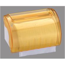 Hotel Publicl Toilet venta al por mayor amarillo translúcido redondo plástico montado en la pared papel toalla rollo dispensador titular