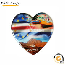 Heart Shaped Paper Printing Photo Magnet for Refrigerator Ym1070