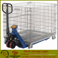 Supplier galvanized workshop transport containers loading capacity 250-2500kg Gitterboxes forklift available mesh storage cages