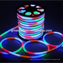 O diodo emissor de luz conduzido impermeável do néon flex o tubo morno / fresco branco / R / G / B / RGB conduziu a luz de néon da corda