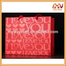 Sacos de compras sacos de compras com logo para itens de presentes de Natal