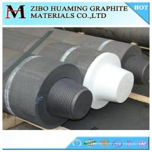 Electrodo del grafito de China HP RP UHP / poste de carbono con la entrerrosca para la venta