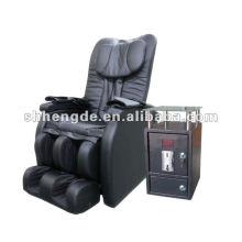 Cadeira de massagem a fichas de luxo com caixa de moedas externa