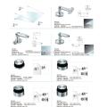 abrazaderas de vidrio de acero inoxidable / herrajes para puertas de vidrio / abrazadera de vidrio para baño