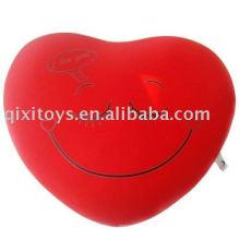 cojín de felpa y relleno de sonrisa de San Valentín, juguete suave almohada de cara de bebé