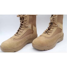 Vulcanized Construction Sued Leather And Fabric Army Military Boots