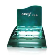 Impressão UV Suportes de exibição de bancada de acrílico Suportes de exibição de cosméticos