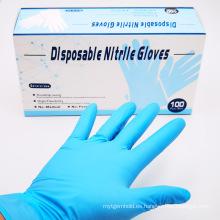 Guantes de nitrilo de buena calidad aptos para alimentos