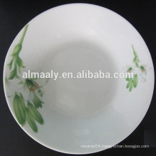 ceramic soup plate with big and small decal