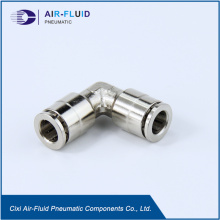 Air-Fluid Nickel Plated Brass Equal Elbow Push in Fittings