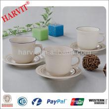 Ustensiles de maison Chine Articles ménagers Produits turcs / Jantes en couleurs Estampes en verre gaufrées Tasses Plateau en tasse / Tasses à thé en gros Soucoupes