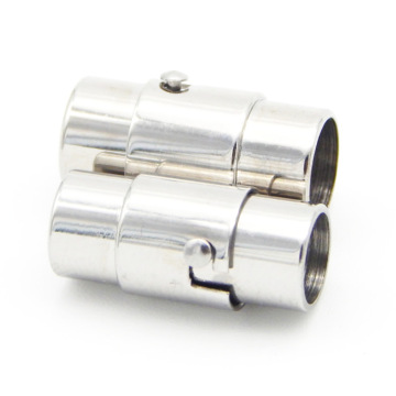 3/4/6mm Stainless Steel Snap Lock  Magnetic Clasp