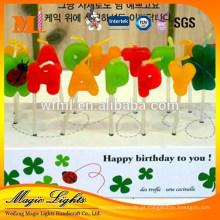 Popular sem pingos de cera velas de aniversário sem centelha