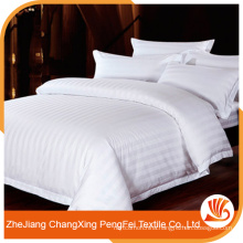Chinese bedsheet super king size with stripe design for hotel
