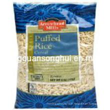Sac d'emballage de riz soufflé en plastique / sac d'emballage alimentaire soufflé