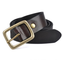 hot sale 38mm width man's full grain leather and split leather belt