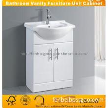 White double doors Bathroom cabinet vanity Unit
