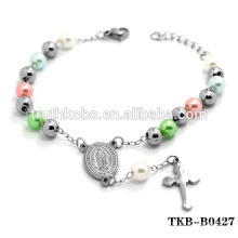 Stainless Steel Catholic Bracelet Wholesale Religious Rosary Bracelet Catholic Our Lady of Guadalupe Cross Bracelet