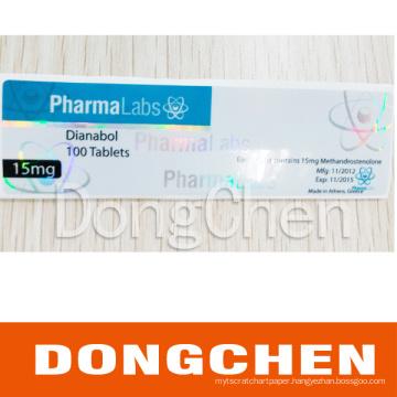 Printing Custom Waterproof Laser Hologram Pharmaceutical Test Enanthate Vial Label