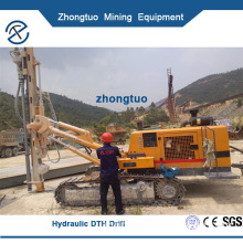 Hydraulic DTH Drill|powerful hydraulic DTH hammer drilling rig with dust collector