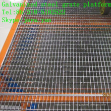 Plate-forme de grille en acier galvanisée