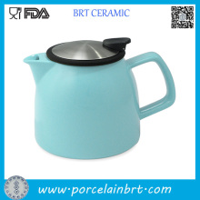 New Design Ceramic Teapot with Stainless Steel Infuser