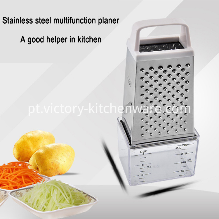 cheese grater with measuring cup