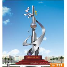 2016 Nouvelle grande sculpture en acier inoxydable Haute hauteur Quanlity Statue urbaine moderne