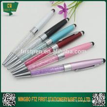 Metall Bling Kristall Stylus Kugelschreiber
