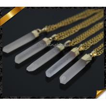 2015 Мода Рок Реальное Кристалл Кварц ожерелье Druzy природный камень Кристалл ожерелья для женщин (CN007)