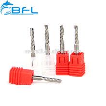 Moinho de extremidade da flauta do carboneto de BFL único para o plástico, corte acrílico