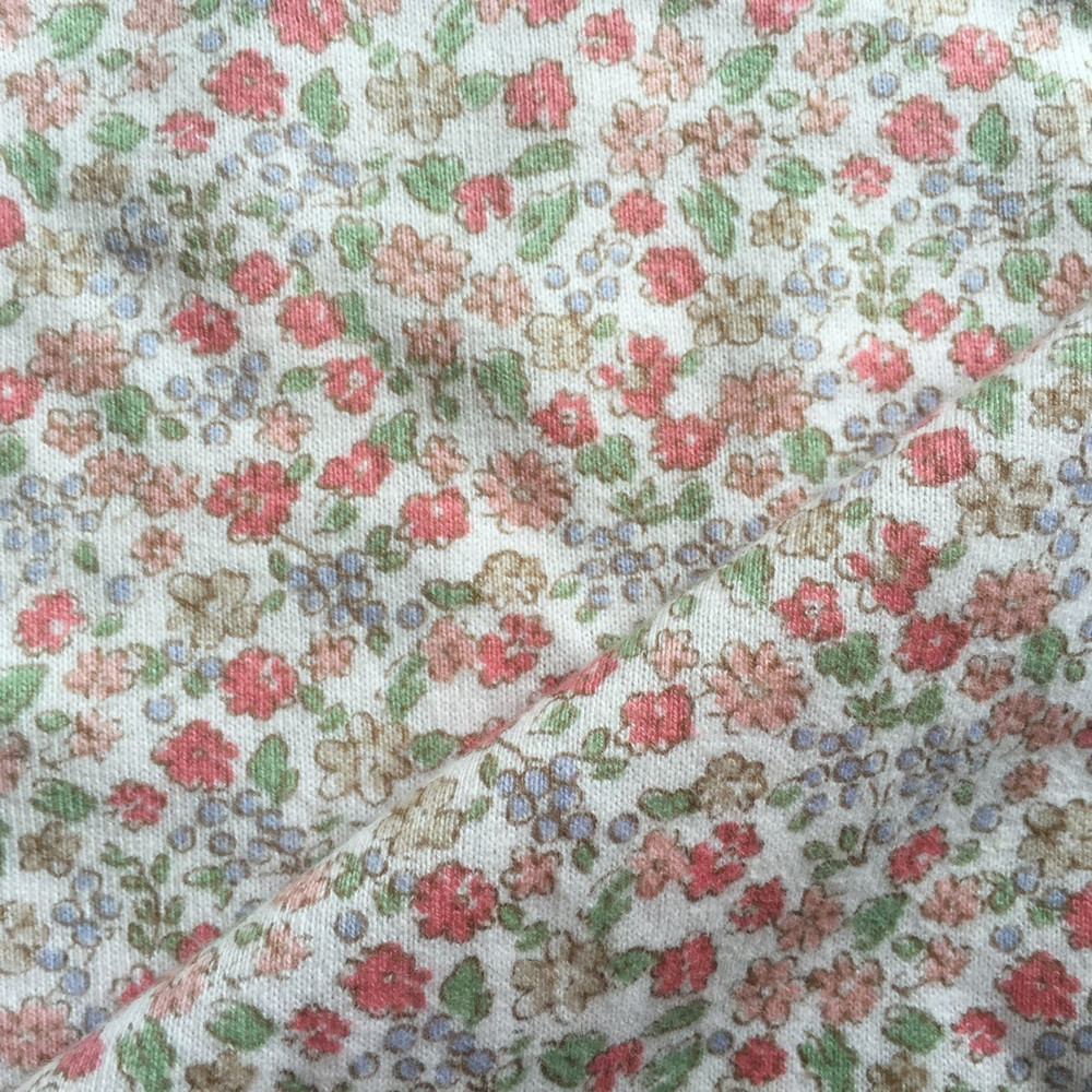 Reactive print cotton single jersey  fabric