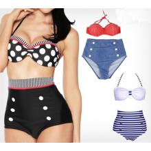 Sexy High Waist Halter Style Bikinis