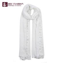 HEC gros nouveau style polyester plaine châle foulard pour les femmes