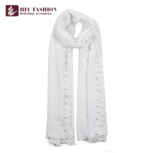 HEC Cheap Custom Low Moq Outdoor Fashion Plain Polyester Scarves