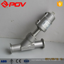 All stainless steel pnuematic food grade sanitary angle valves