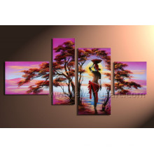 Hand Painted African Women Paintings Painting on Canvas for Home Decoration (AR-019)