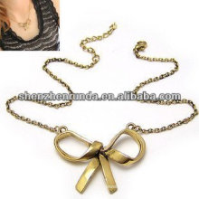 China manufacturer cheap wholesale charm gold necklace for women