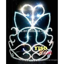 Blau gefärbte Kristall Blume Schmetterling Prinzessin Tiara