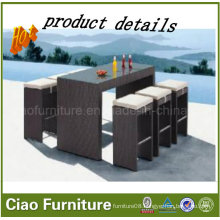 Outdoor Furniture Rattan/Wick Bar Chairs and Table